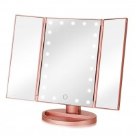 Зеркало с LED подсветкой тройное прямоугольное WJ26 (Pink)