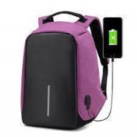 Рюкзак для ноутбука с USB Bobby (Purple Black)