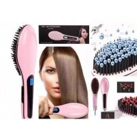 Расческа-выпрямитель Fast Hair Straightener HQT 906 (Pink)