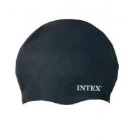 Шапочка для плавания Intex взрослым и детям (Черная)