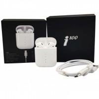 Беспроводные блютуз наушники i100 TWS с боксом для зарядки White