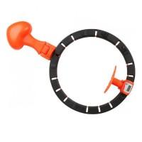 Обруч HULA Hoop LED хулахуп для похудения (Black Orange)