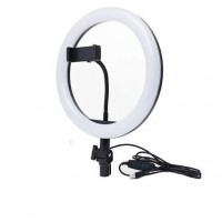 Кольцевая LED лампа XD-260 с креплением для телефона (Black)
