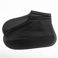 Бахилы на обувь силиконовые от воды и грязи (M, Black)
