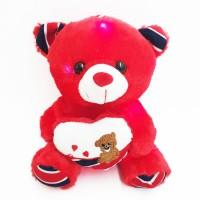 Плюшевый мишка Тедди с сердцем, светящийся (Red)