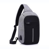 Городской рюкзак антивор Bobby Mini с защитой от карманников и USB-портом для зарядки (Gray Black)