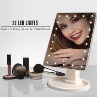 Косметическое Зеркало с ЛЕД подсветкой для макияжа Large 22 LED Mirror (White)