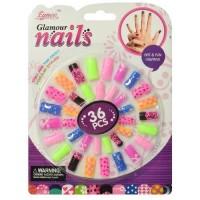 """Детский набор накладных ногтей """"Glamour Nails"""" (36 шт)"""
