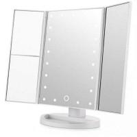 Зеркало с LED подсветкой тройное прямоугольное WJ26 (White)