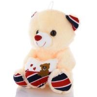 Плюшевый мишка Тедди с сердцем, светящийся (Beige)