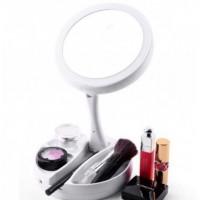 Круглое Зеркало с LED подсветкой для макияжа My Fold Jin (White)