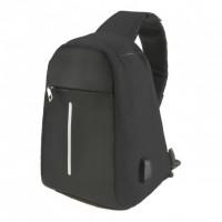 Городской рюкзак антивор Bobby Mini с защитой от карманников и USB-портом для зарядки (Black)