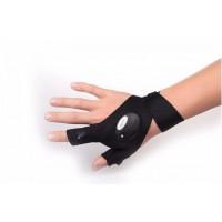 Перчатка с подсветкой Hand Free light (Black)