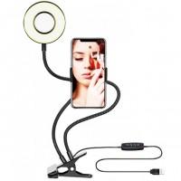 Штатив для телефона с LED подсветкой Professional Live Stream 14340 (Black)