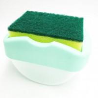 Диспенсер SOAP PUMP SPONGE CADDY настольный (Green)