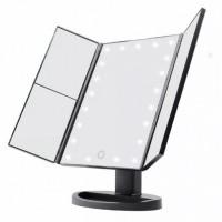 Зеркало с LED подсветкой тройное прямоугольное WJ26 (Black)