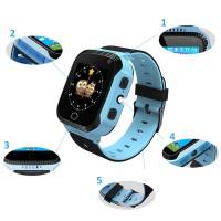 Умные часы Smart Watch Baby Q02 LBS + GPS (Blue)